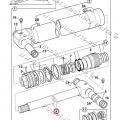 Pístní tyč hydraulického válce JCB 4CX 60 X 1085 mm
