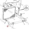 Hadice chladiče dolní JCB 3CX/4CX