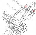 Pouzdro hydraulického válce lžíce JCB 3CX/4CX